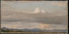 Cloud Study with Distant Mountains - Alexandre Desgoffe (French 1805-1882)