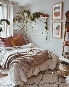Schlafzimmer - Vintage Bohemian Home Dream Rooms, Dream Bedroom, Cute Room Decor, Aesthetic Room Decor, Boho Room, My New Room, House Rooms, Cozy House, Bedroom Decor