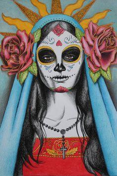 Santa Muerte by ~LittleBird16 on deviantART