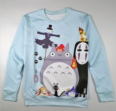 Harajuku New Fashion Cartoon Cat Pullover Autumn Hoodies Cute Totoro His Brothers Print T-shirt Hoodie Plus Size Cotton Tops, $68.32 | DHgate.com
