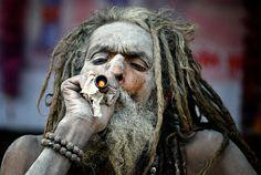Smoking Sadhu -4 by Atish Sen on 500px