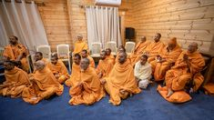 Sadhus doing Swamishri's puja darshan Folded Hands, 30 September, 30th, In This Moment