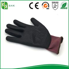 latex coated work gloves/latex glove printed logo/latex glove production line