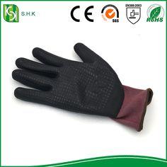 latex coated work gloves/latex glove printed logo/latex glove production line