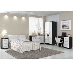 Black White Pink Gold Bedroom | White Bedroom | Pinterest | Pink ...