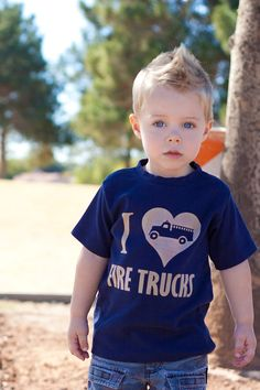 I Love Fire Trucks Toddler Fire Engine Shirt, Ink Free, Sizes 12m to 6, High Quality Tshirt, click for more colors