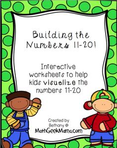 These worksheets are meant to be used with hands-on manipulatives (such as base ten blocks or dimes and pennies) as well as do-a-dot markers to create a visual of place value for the numbers 11-20.