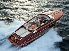 "The Riva Riverama 44, designed to recall the mahogany and teakwood speedboats seen in movies like ""On Golden Pond"" but of course wildy restyled and on an entirely different scale and at another one of those price points where if you have to ask..."