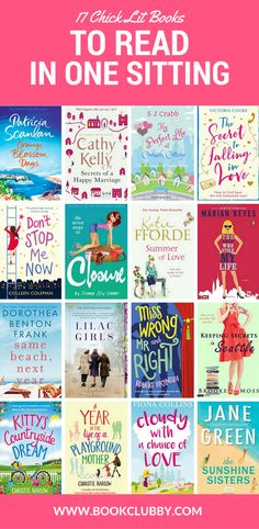 17 chick lit books worth reading in one sitting. Add to your books to read list and your summer beach reads are sorted.