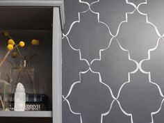 Hand-Painted Pattern - A Painter's DIY Small Condo Design on HGTV