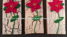 Poinsettia On a Crackled Distressed Sugar Cookie Stick - Merry Christmas! - YouTube