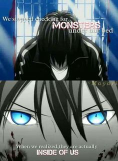 Noragami We ourselves are monsters, how ironic Sad Anime Quotes, Manga Quotes, Kimi No Na Wa, Yato Noragami, Memes, Dark Quotes, A Silent Voice, Kaichou Wa Maid Sama, Anime Films