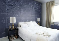Wallpaper = Star Map by Mr Perswall. Collection Destinations/Item number P112602-8. Designed by M. KORN