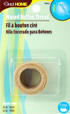 Dritz 9043 Waxed Button Thread Natural 20Yard * Continue to the product at the image link.