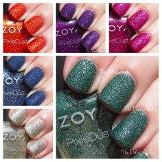 Zoya Pixie Dust Swatches by The Polishaholic
