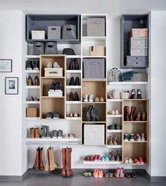 rangement pour chaussures a fabriquer avec tubes pvc peints grottes. Black Bedroom Furniture Sets. Home Design Ideas