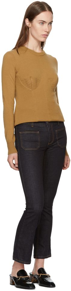 Stella McCartney - Tan Wool Crewneck Sweater