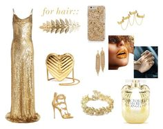 """gold shine at day or at night"" by rosela-1 ❤ liked on Polyvore featuring Michael Kors, Giuseppe Zanotti, Yves Saint Laurent, Pieces, Capwell + Co, Chanel, House of Harlow 1960 and Victoria's Secret"