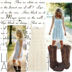 Maybe I should try the dress and cowboy boots combo