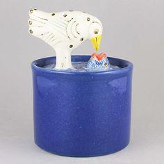 Lisa Larson (1990s) Joyous Jar with Bird Lid