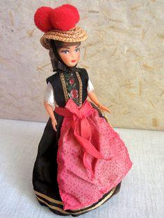 German Schwarzwald (Black Forest) costume doll, folk doll, vintage, European doll, Thom