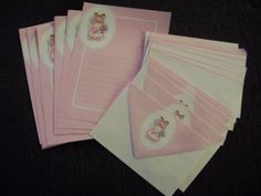 Vintage Stationary Lot of 20 Envelopes and Notes Pink by TFSloan, $5.00