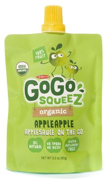 GoGo SqueeZ organic applesauce pouches perfect for on-the-go! #HuggiesTester