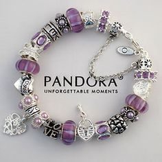 Purple Pandora Bracelet...with charms HE picks for me. Fun to see what he would choose to describe me. #Nordstrom