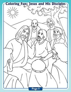 Jesus And His Disciples Coloring Page