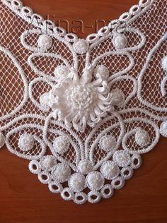 Dantel Angles - a form of crochet lace using point lace tecniques Irish Crochet Charts, Crochet Motifs, Freeform Crochet, Crochet Doilies, Crochet Lace, Crochet Patterns, Crochet Stitches, Doily Patterns, Dress Patterns
