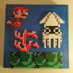 Super Mario scene perler beads by kayla.saur