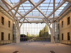 Glass Courtyard in Berlin, Germany by Studio Daniel Libeskind