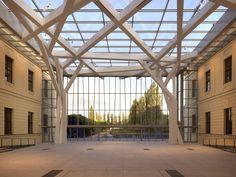 Glass Courtyard in Berlin, Germany by Studio Daniel Libeskind