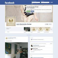 Facebook page designed for Lara Rosnovsky: 'www.facebook.com/lararosnovsky