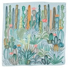 SuTurno Cactus Silk Scarf