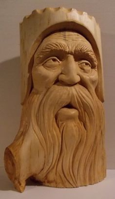 "It has been a long time, since I have done any wood carving.............I just did this one for a friend..............White Pine...15""..High.............Greg Hand"