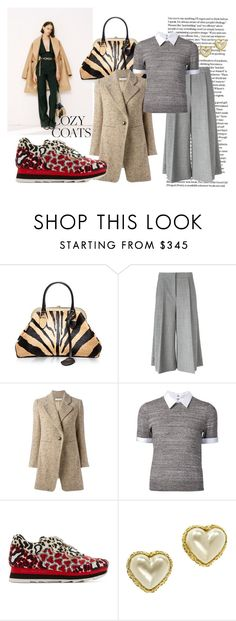 """""""Coats without the Coverup"""" by kjsafl ❤ liked on Polyvore featuring Alessandra Rich, Rochas, STELLA McCARTNEY, Chloé, Alice + Olivia and Chanel"""