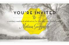 Invitation design used in an email for a friend's bachelorette party.