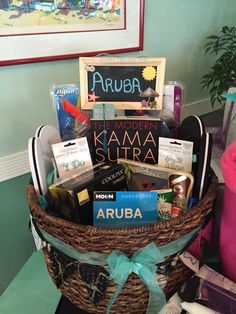 The Honeymoon Basket I Made For My Best Friends Bridal Shower