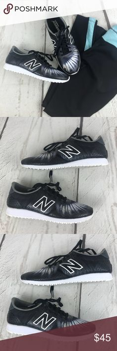 New Balance Reengineered Running Walking Shoes New Balance Reengineered Black & White Perfect for Casual Wear Running or Walking  Exercise   Condition: Excellent. No Rips or Stains. Very well taken care of .   Size: 6 (fits true to size) New Balance Shoes Athletic Shoes