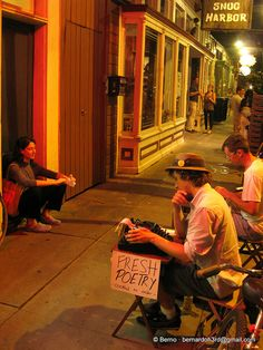 Frenchmen Street. New Orleans. Still un-ticked on my travel to do list. Surely amazing for live music? And fresh poetry.