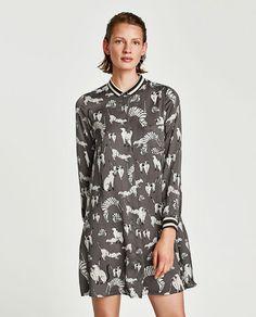 Dress With Cat Print Mini