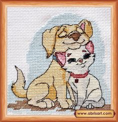 Cross stitch kit Friends picture Free Shipping Abris Art by AbrisA