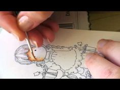 ▶ Colouring skin/face with Distress Ink, part 1 - YouTube
