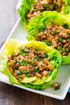 Vegetarian lettuce wraps with tofu and mushrooms that taste just like the famous PF Changs lettuce wraps. All the flavor for a fraction of the calories!