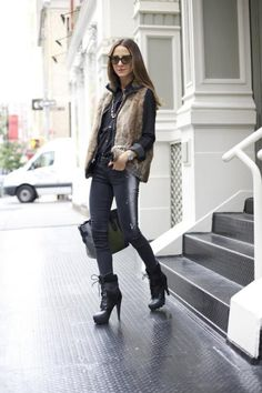 25 Trendy Fall Layer Looks With Fur | Styleoholic