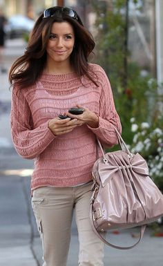 Eva Longoria spotted carrying a Valentino tote.