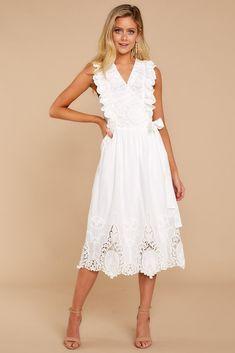 Dresses - Women's Outfits for Sale - Shop Red Dress Boutique – Page 2 Lace Summer Dresses, White Dress Summer, Casual Dresses, Fashion Dresses, Shop Red Dress, White Midi Dress, Lace Dress, Light Yellow Dresses, Simplicity Fashion