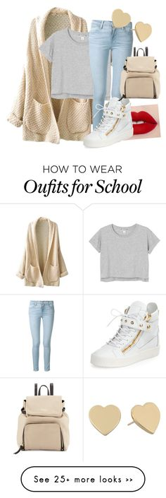 """Best Look for School"" by lauraumi on Polyvore featuring moda, Monki, Frame Denim, Giuseppe Zanotti y Kate Spade"