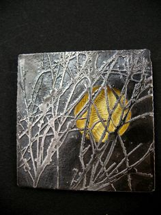 Brooch Sterling silver, 22 ct gold Stainless steel 2010 22 x 44 x 10mm